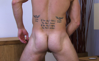 Hunky Sports mad Jon - First time showing off his muscular & Tatooed body