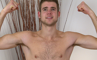 Tall Hairy Young Man Kevin Strips & Shows His Hard Uncut Cock & Explodes Shooting Cum Everywhere!