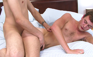 Horny Lad Lucas flip flops with Richard & his Big 8 Inch Uncut Erection
