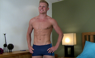Bonus Video of Photo Shoot - Straight Blond Pup Marcus gets his 1st Man Wank!