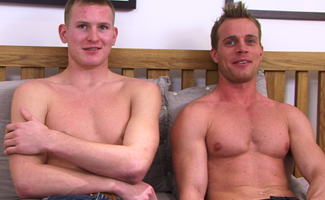 Str8 hunk Liam slams his thick long cock into Str8 hunk Neil's tight hole... and pumps it hard!