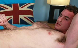 Bonus Video of Photo Shoot - Hairy Young Rugby Player Paul Shows Off His Muscles & Lovely Long & Meaty Uncut Cock!