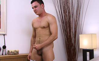 Str8 Former Bad Lad Rocco is back to show off his cock as long as its round!