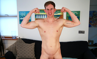 Bonus Video of Ryan Lewis's Photoset - Straight Personal Trainer Shows off his 8 Inch Cock!