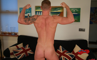 Bonus Video of Thomas Park's Photo Shoot - Young Muscular Man Shows his Uncut Large Cock!