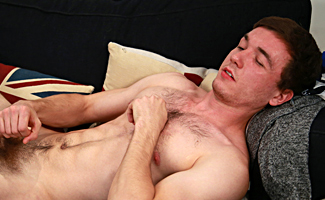 Bonus Video of Tristan Thompson's Photo Set - Young Straight Footballing Ace Shows off Very Stiff Uncut Cock!