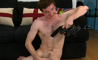 Straight Lad Tristan Wanks His Big, Uncut Cock and Shows Off His Hairy Hole