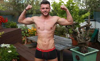 Straight Hunk Tyler Shows his Massive Uncut Cock, Wanks & Shoots Big!