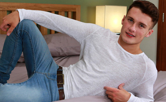 Bonus Video of Will's Photo Shoot - Flirty & Ripped Lad Will Shows off His Massive Uncut Cock!