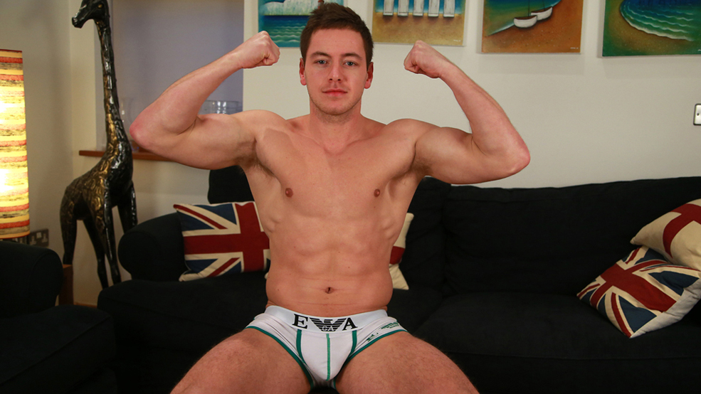 Ripped and Muscular Young Straight Max Shows us his Large Uncut Cock!