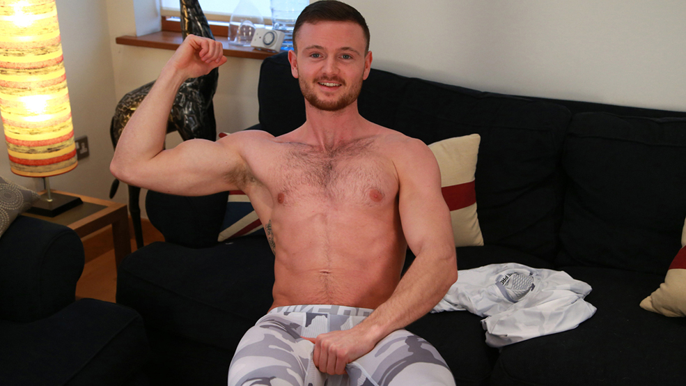 Straight Boxer James Strips & Shows us his Hairy Body and Rock Solid Uncut Cock!