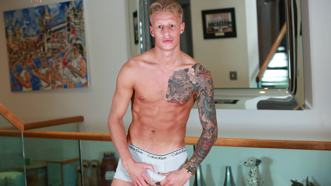 Super Fit Young Teen Boxer Jake Shows us his Massive Uncut Erection!