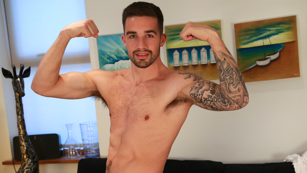 Straight Athletic Footballer Lucas Strips and has a Seriously Intense Orgasm!